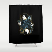 221b Shower Curtains featuring The Detective of 221B by WinterArtwork