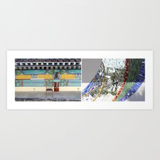 SIT/STAND Art Print
