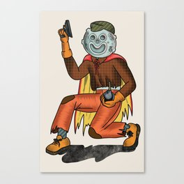 Moon Man Canvas Print