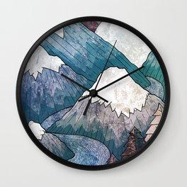 A cold river canyon Wall Clock