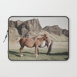 Rustic Horse Photograph in Mountains Laptop Sleeve