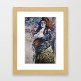 Carmencita, Portrait of Charlotte Berend-Corinth in Spanish Dress Framed Art Print