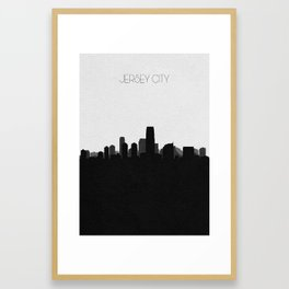 City Skylines: Jersey City Framed Art Print