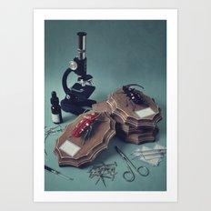 Bicorn Beetles Art Print