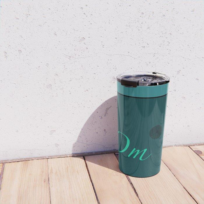 Om Blue Travel Mug