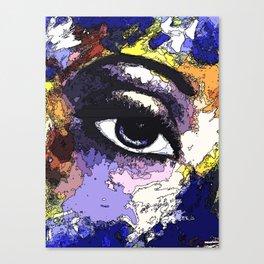 Title: Beautiful Eye - Digital Silk screen Version Canvas Print