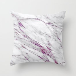 Gray and Ultra Violet Marble Agate Throw Pillow