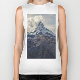 Distant Mountain Peak Biker Tank