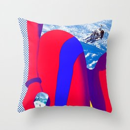 Space Woman Throw Pillow