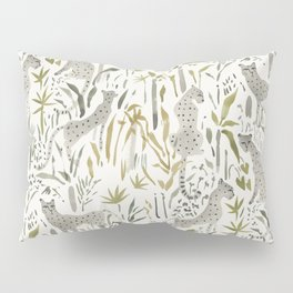 Grey Cheetahs Pillow Sham
