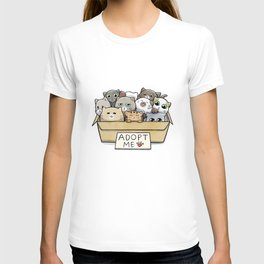 Box full of cats for adoption T-shirt