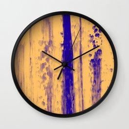 Gerhard Richter Inspired Abstract Urban Rain 4 Modern Art - Corbin Henry Wall Clock