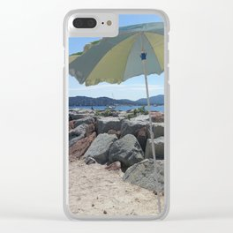 At the Bay of St. Tropez, France Clear iPhone Case