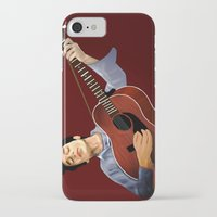 bob dylan iPhone & iPod Cases featuring Bob Dylan by Derek Donovan