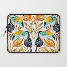 Tropical Toucans – Sepia Palette Laptop Sleeve