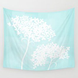Queen Anne's Lace Blue Wall Tapestry