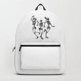Three Dancing Skulls Backpack