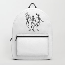 Three Dancing Skulls Backpack