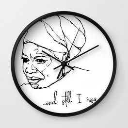 and still I rise Wall Clock