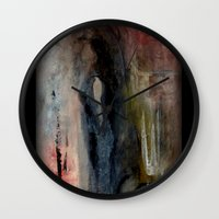 imagerybydianna Wall Clocks featuring corona de cenizas by Imagery by dianna