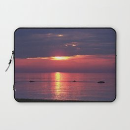 Holes in the Clouds, sunset on the water Laptop Sleeve