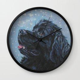 Newfoundland Dog Art Portrait from an original painting by L.A.Shepard Wall Clock