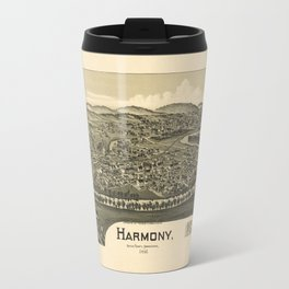 Aerial View of Harmony, Butler County, Pennsylvania (1901) Travel Mug