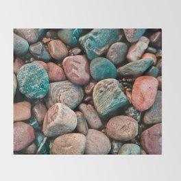 Pebbles of Isle of Skye Throw Blanket