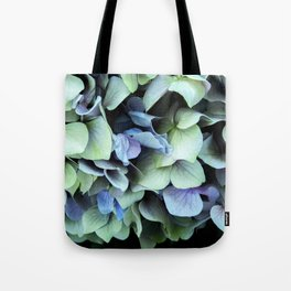 green and blue hydrangea Tote Bag