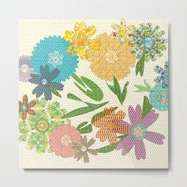 Flower Gardens Metal Print