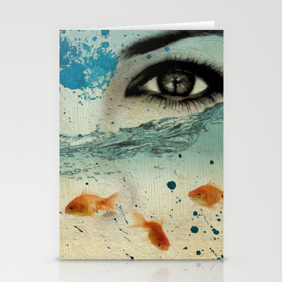 tear in the ocean Stationery Cards