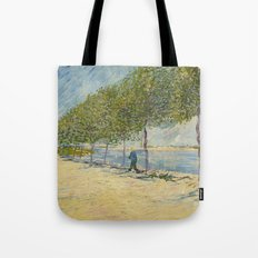 Along the Seine by Vincent Van Gogh, 1887 Tote Bag