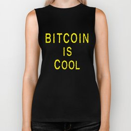Bitcoin is Cool Biker Tank