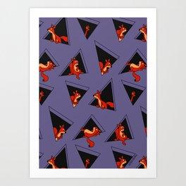 squirrel pack Art Print