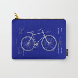 Vintage Bicycle Patent Blueprint Carry-All Pouch