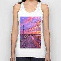 calendars Tank Tops featuring Sunrise Huntington Beach Pier   11/12/13 by John Minar Fine Art Photography