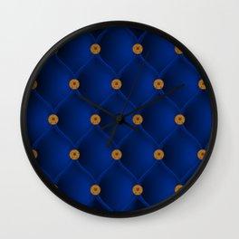 Studded blue furniture velvet Wall Clock