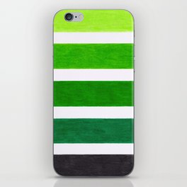 Colorful Green Stripes iPhone Skin