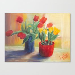 longing for spring - tulip Canvas Print