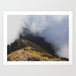 Hiking Trail on Monte Gradiccioli Art Print