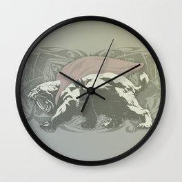 Fearless Creature: Saba Wall Clock