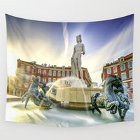 apollo Wall Tapestries featuring Oh Apollo! by ExperienceTheFrenchRiviera