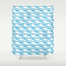 kaikoura whales Shower Curtain