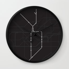 London Underground Northern Line Route Tube Map Wall Clock