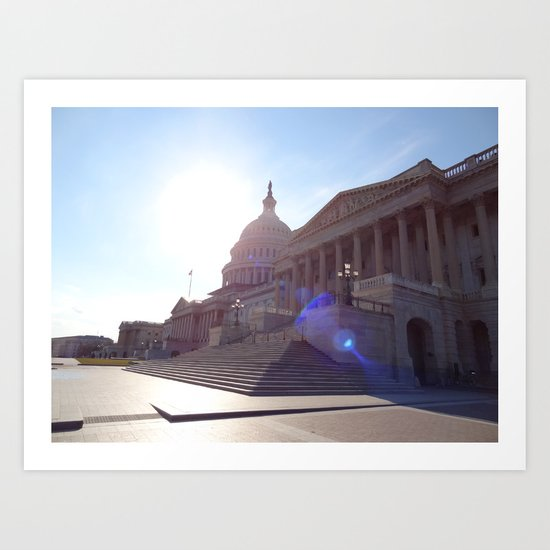 The State House with Flare! Art Print