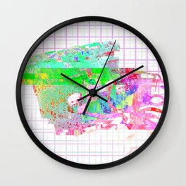 Glitch Tape Wall Clock