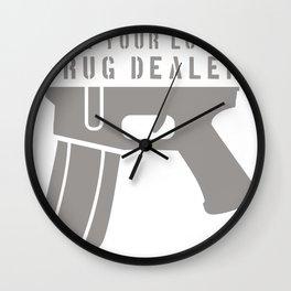 Strage Edge GUN Wall Clock