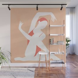 Minimal Woman Pose Wall Mural