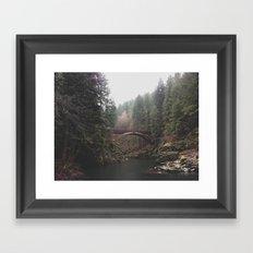Bridge at Moulton Falls, WA Framed Art Print