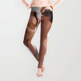 5516-KD Blindfolded Nude Woman Reaching for Mirror Leggings